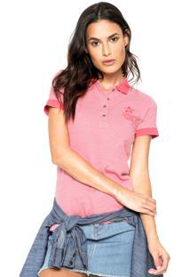 Camisa Polo Planet Girls Bordada Rosa