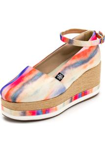 Sapato Anabela Gisela Costa Casual Multicolorido - Kanui