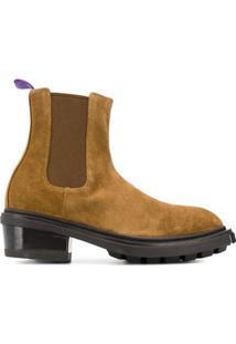Eytys Ankle Boot Com Plataforma - Marrom