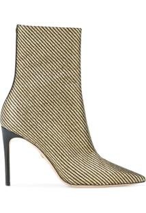 Dsquared2 Ankle Boot De Couro - Metálico