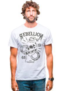 Camiseta Estonada Corte À Fio Estampada Joss - Rebelion