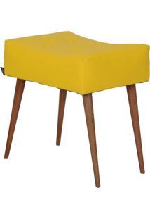 Puff Dani Pé Palito Amarelo E Natural