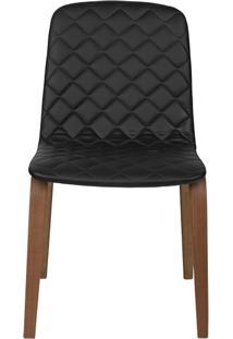 Cadeira Lari - Couro Preto