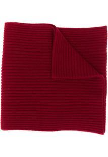 N.Peal Cachecol De Tricô Canelado - Vermelho