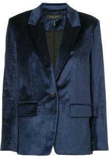 Rag & Bone Monty Velvet Blazer - Azul