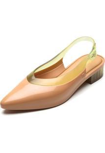 Sapatilha Melissa Cleo Heel Ad Bege/Amarelo