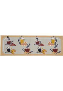Passadeira Retangular Para Cozinha Vizapi Un Happy Hour Em Nylon 40 X 120 Cm - Multicolorido