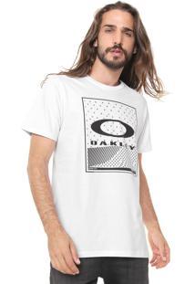 Camiseta Oakley Skull Panel Branca