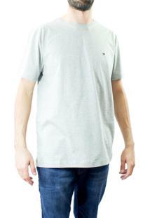 Camiseta Masculina Gola Redonda Tommy Hilfiger - Masculino-Cinza
