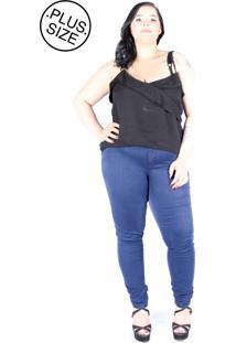 Calã§A Jeans Skinny Saint Yves Plus Size Da Cambos Azul - Azul - Feminino - Dafiti