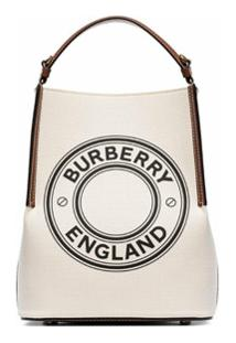 Burberry Bolsa Tote Pequena Com Logo Penny - Neutro