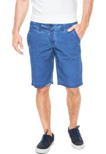Bermuda Sarja Calvin Klein Jeans Bolsos Azul