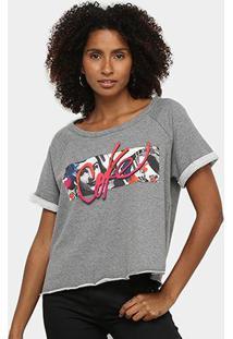 Camiseta Coca Cola Logo Básica Feminina - Feminino-Grafite