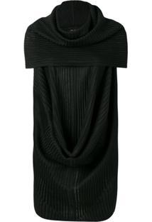 Rick Owens Ribbed Style Blouse - Preto