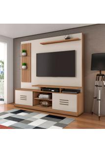Estante Para Home Theater E Tv Até 60 Polegadas Samba Naturale E Off White