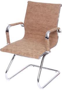 Cadeira Office Eames Esteirinha- Caramelo- 105X61X46Or Design