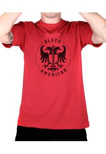 Camiseta Bleed American Sword Of Wisdom Vermelha