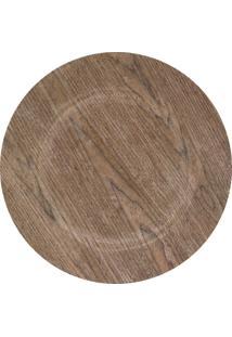 Sousplat Mimostyle Dark Wood Madeira
