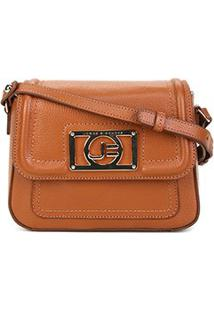 Bolsa Couro Jorge Bischoff Mini Bag Floater Basic Feminina - Feminino-Caramelo