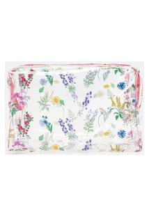 Nécessaire Tijolo Estampa De Florzinhas   Accessories   Multicores   U