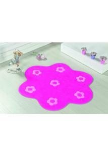 Tapete Antiderrapante Formato Jardim Pink 0,70 X 0,70 Guga Tapetes