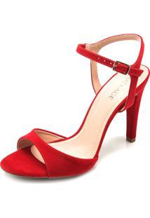 Sandália Mixage Tira Vermelha