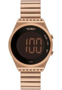 Relógio Feminino Euro Fashion Fit Slim Eubjt016Ab/4J 38Mm Aço Rosé