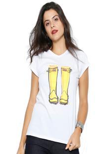 Camiseta Club Polo Collectionyellow Par Branco