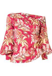 Peter Pilotto Blusa Assimétrica Com Estampa Floral - Vermelho