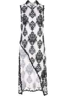 Victoria Hayes Blusa Assimétrica Com Estampa Floral - Branco