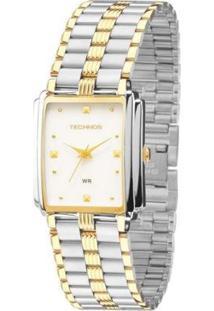 Relógio Technos Feminino Elegance - Feminino-Prata+Dourado