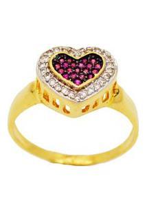 Anel Love To Love Pink Cravejado