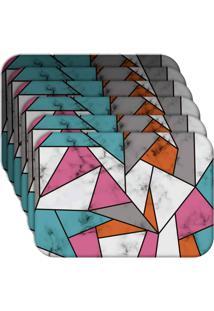 Jogo Americano - Love Decor Marble Texture Color Kit Com 6 Peças