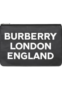 Burberry Carteira Com Logo E Zíper - Preto