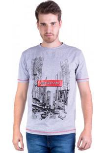 Camiseta Manhattan Cinza Mescla