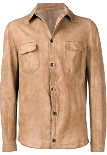 Salvatore Santoro Slim Fit Shirt Jacket - Neutro