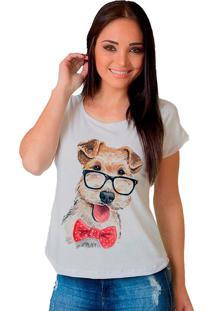 Camiseta Shop225 Cachorrinho Branco