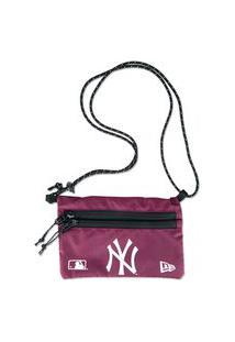 Mini Bolsa New Era New York Yankees Vermelho Escuro