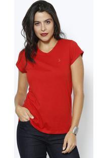 Camiseta Lisa - Vermelhaclub Polo Collection