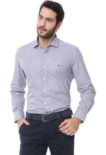 Camisa Aramis Reta Geométrica Cinza