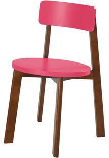 Cadeira Lina Cor Cacau Com Rosa - 31535 - Sun House