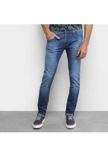 Calça Jeans Skinny Forum Estonada Masculina - Masculino-Azul