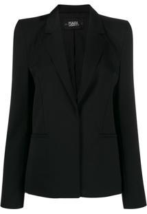 Karl Lagerfeld Karl X Carine Power Shoulder Blazer - Preto