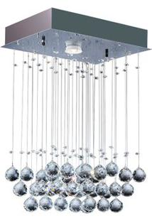 Plafon Cristal Ball Para 1 Lâmpada Gu10 5W 3K Power Bivolt Cromado Bronzearte