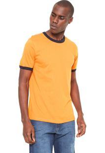 Camiseta Hering Básica Laranja/Preta