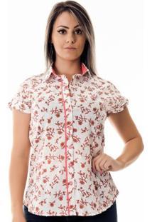 Camisa Pimenta Rosada Donatienne Cashmere - Feminino-Branco