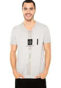 Camiseta Calvin Klein Jeans One Cinza