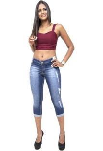 Calça Jeans Credencial Cropped Layara Feminina - Feminino