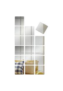 Espelho Love Decor Decorativo Kit Quadrados