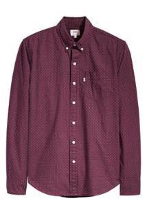 Camisa Levis Classic One Pocket Masculina - Masculino-Vermelho